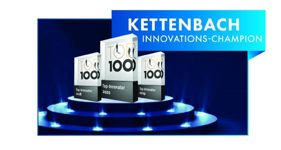 Zum dritten Mal in Folge gehört Kettenbach zu den TOP-100 Innovatoren.