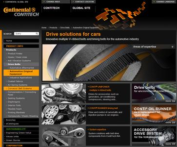 Clearly laid out and right up to date: At www.contitech.de/ aoe-en, design engineers can find detailed information about timing belts and V-ribbed elts for automotive original equipment, as well as about the system cometence of the ContiTech Power Transmission Group / Photo: ContiTech