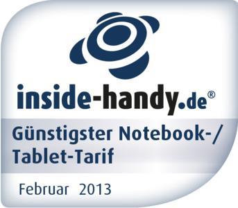 Award-Logo Notebook-/ Tablet-Tarife im Februar