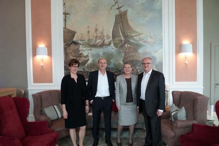 Das Team von personal Offsite: Monika Hart-Hönig, Klaus-Olaf Zehle, Simone Dappert und Olaf Ihlow (v.l.n.r)
