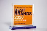 """Die Leser der renommierten Fachzeitschriften """"AUTOHAUS"""" und """"asp Auto Service Praxis"""" haben Michelin zu den """"Best Brands 2020"""" gewählt. Foto: Jörg Schwieder/Rainer Wolfsfellner/AUTOHAUS"""