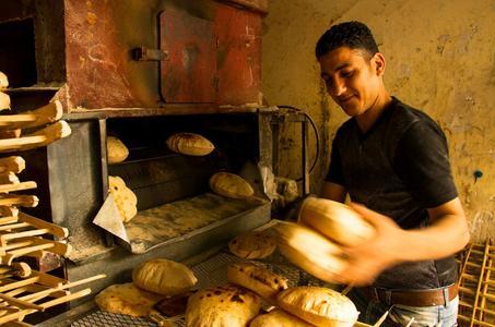 Brot für die Armenspeisung
