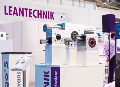 Auf der all about automation in Essen und Chemnitz präsentiert LEANTECHNIK eine Auswahl seiner robusten hochgenauen Zahnstangengetriebe