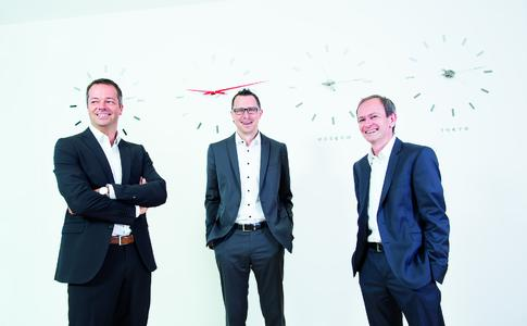 KNAPP managing board: Franz Mathi, Christian Grabner and Gerald Hofer