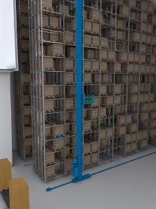 In Logistik-Anwendungen z. B. in Hochregallagern kommen ECI- Antriebssysteme von ebm-papst zum Einsatz – sie erfüllen die hohen Anforderungen spielend.
