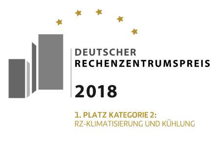 Banner 1. Platz Deutscher RZ-Preis 2018