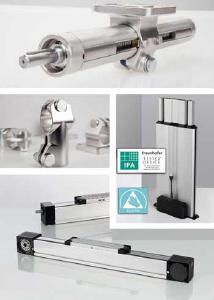 RK Rose+Krieger bietet eine Vielzahl von Produkten für verschiedene Hygienestandards: dazu zählen neben ITAS-Elementen auch Linearachsen und Rohrverbinder aus Edelstahl sowie Hubsäulen und Linearachsen für den Reinraumeinsatz