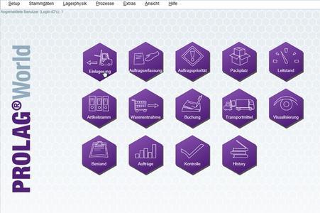 Startbildschirm von PROLAG®World heute