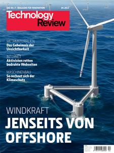 Das Titelbild der aktuellen Technology-Review-Ausgabe 4/2012