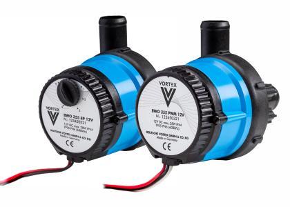 Vortex BWO 355 mit 90°-Kunststoff-Pumpengehäuse Kompakte Gleichstrompumpe BWO 355 für Heiz- und Kühlkreisläufe in mobilen Systemen (OEM-Anwendungen)