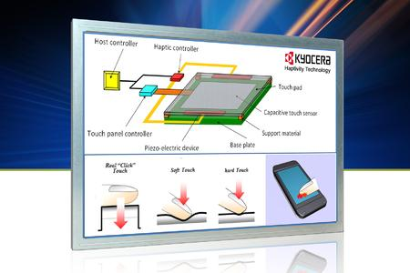 MSC Technologies supports Kyocera's Haptivity touch feeling technology for touchscree