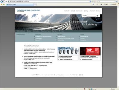 Goodyear Dunlop mit neuer Website online
