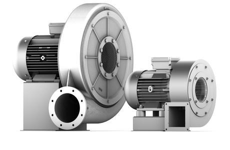 Bei deutlich kompakterer Bauweise bietet der High-Speed-Ventilator (rechts) ein vergleichbares Druckangebot  wie ein Standardventilator (links), Foto: Elektror airsystems gmbh