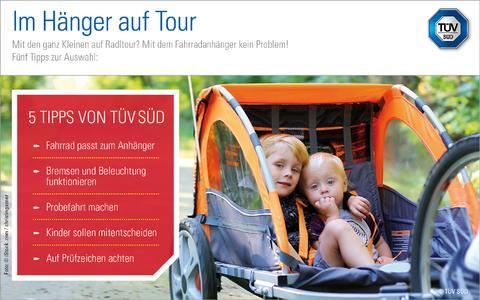 Mit Kindern sicher unterwegs: TÜV SÜD-Tipps zu Fahrradanhängern