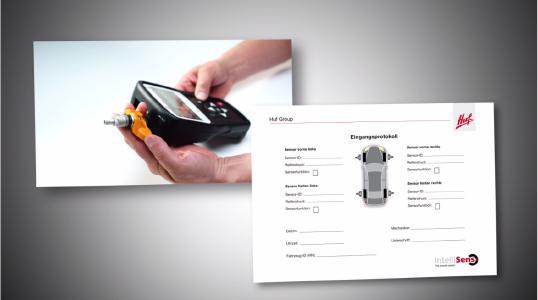 Die Daten der Universalsensoren werden mit dem RDKS-Diagnosegerät ausgelesen und zur Dokumentation in ein Eingangsprotokoll eingetragen