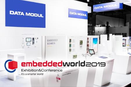 DATA MODUL auf der embedded world  in Halle 1,Stand 234