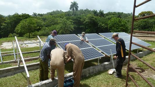 Solar system for village hall El Brujito