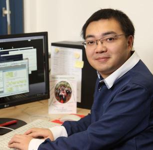 Doktorand Qi Wang, Erstautor der aktuellen Studie. Foto: TUK/Koziel