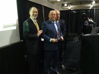 ©2016 Z-LASER America Inc.: In place of Z-LASER Germany, Ralph Tesson (Z-LASER America Inc.), received the award.