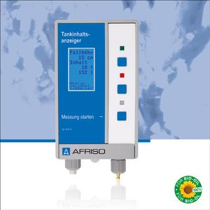 The AFRISO DTA 10 digital tank contents indicator is suitable for level measurement in tanks containing fuel oil EL, L, diesel fuel, FAME 100 % as biodiesel (EN 14214), water and non-corrosive liquids with a density from 0.5 to 1.5 g/cm³ (Photograph: AFRISO)