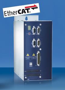 Bei ausgewählten Modellen der Antriebsverstärkerserie SD2S bietet SIEB & MEYER eine integrierte EtherCAT-Slave-Feldbusschnittstelle an