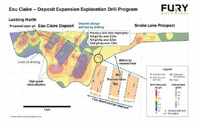 Fury Begins Step-Out Drilling at Eau Claire Project and Provides Targeting Update