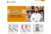 Der Onlineshop www.cleverforks.com bietet Gabelstapler-Zubehör für Spediteure und Gewerbetreibende