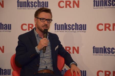 Ronny Drexel ist Leiter Marketing & Kommunikation bei der MRM Distribution im Gespräch mit CRN-TV auf der CEBIT
