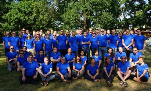 Das Team von Scopeland Technology bei der Sommerfahrt 2018