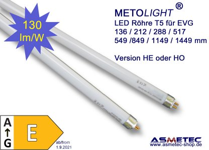 METOLIGHT LED-T5-Röhren von Asmetec