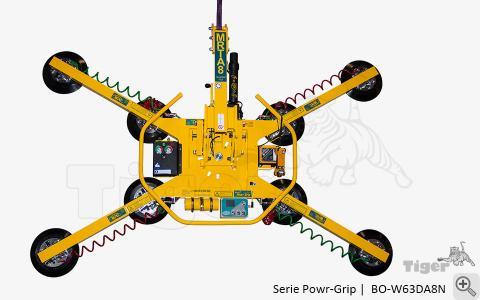 Akku-Vakuum-Hebegerät Typ BO-W63DA8N für den netzunabhängigen Kranbetrieb