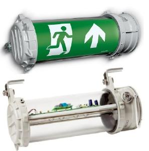 Emergency exit and escape route luminaries