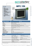 """industrial-PC with i86 prozcessor 500 MHz 5,7-15"""" Touch-Display"""