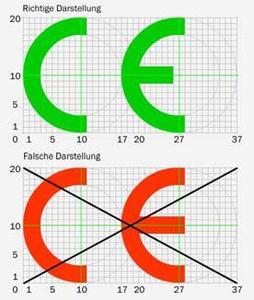 Korrekte (oben) und falsche (unten) CEKennzeichnung. Quelle: http://www.cezeichen.de/ce-zeichen-und-faq.html