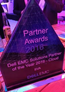 SVA mit Dell EMC Partner Award 2016 in der Kategorie Cloud gewürdigt
