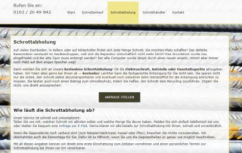Schrottabholung, kostenlose Schrottabholung, NRW, Ruhrgebiet, Schrott abholen