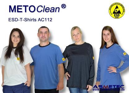 METOCLEAN ESD-T-Shirts, sehr bequem, atmungsaktiv und lange haltbar