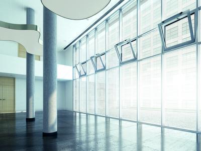 GEZE Einbausit RWA System mit Slimchain Antrieben, Photo: GEZE GmbH