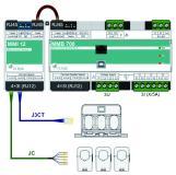 Einspeisemessung MMB700 und Abgangsmessung mit MMI