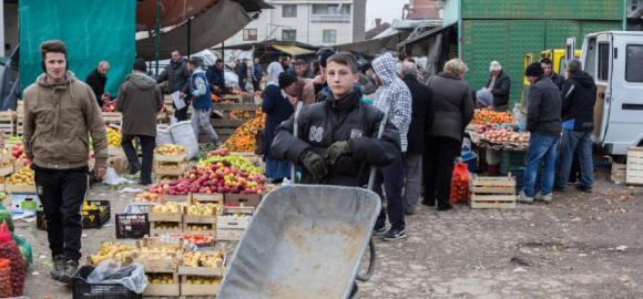Markt im Kosovo