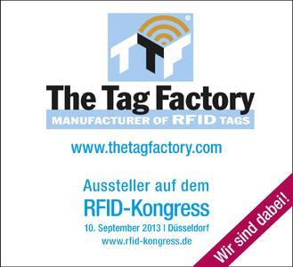 The Tag Factory ist Aussteller auf dem RFID-Kongress.