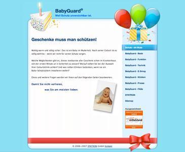 www-baby-guard.info - Einziges Infoportal zu Baby-Schutz