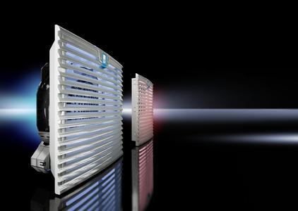 TopTherm Filterlüfter - so heißt die komplett neu entwickelte Filterlüftergeneration von Rittal, die weltweit erstmals die Diagonal-Technik anwendet