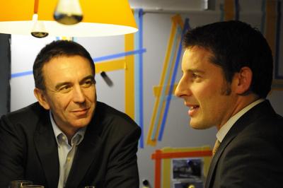 Urs Frick, Standortleiter Zürich, im Gespräch mit Hansruedi Nef, CEO bei der Aduno-Gruppe