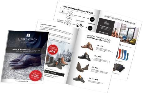 Aufriss Broschüre Shoepassion