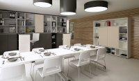 Viel Tageslicht schafft eine gute Arbeitsatmosphäre – und OKA Puron Tische sorgen für die Ästhetik im Office.