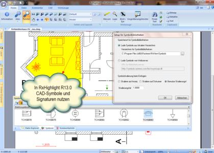 Nutzen Sie CAD-Symbole und Signaturen in RxHighlight
