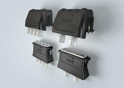 Han® 34 HPR EasyCon for the transmission of high current and bigger data streams e.g. for rail technology