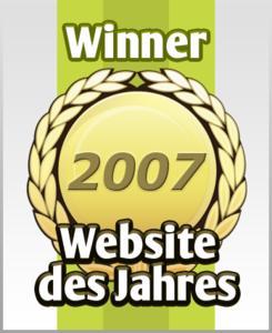 Website des Jahres - Gewinner-Logo 2007
