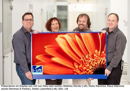 Matthias Wende (i-sft), Heike Wammes, Klaus Wammes (beide Wammes & Partner) sowie Stefan Liesenfeld (i-sft) (von links nach rechts)